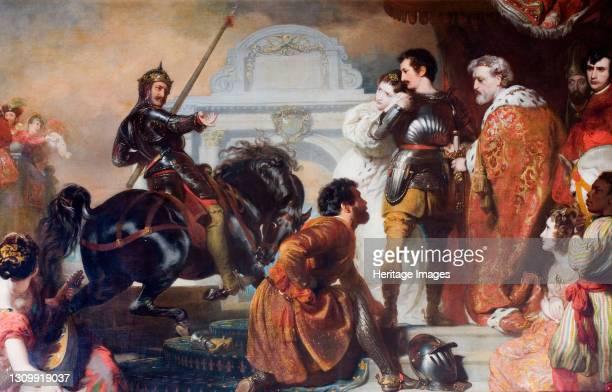 The Challenge Of Rodomont To Rogero, 1827. Artist Henry Perronet Briggs. .