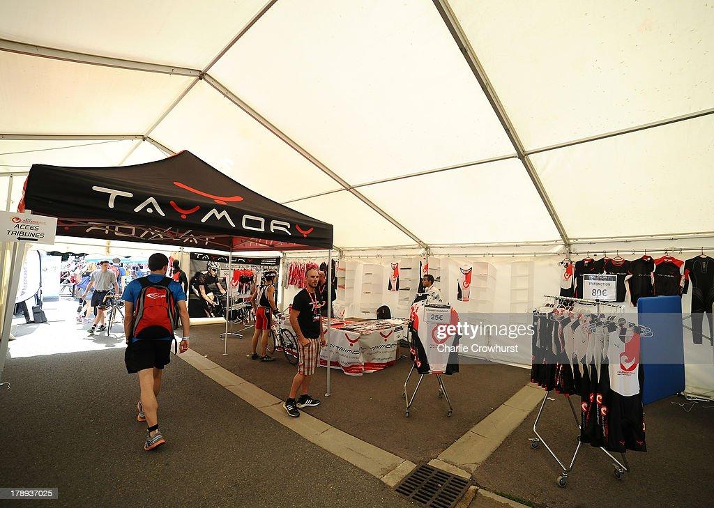 The Challenge Triathlon shop in preparation ahead of race
