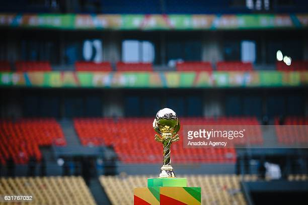 The champion trophy seen during the awards ceremony after the final match between Chile and Iceland of 2017 Gree China Cup International Football...