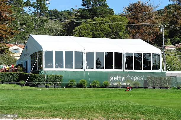 The Champions Club tent is seen during the final round of the ATT Pebble Beach National ProAm at Pebble Beach Golf Links on February 14 2010 in...