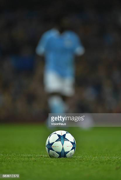 The Champions League official ball by adidas during the UEFA Champions League Group D match between Manchester City and Sevilla FC at the Etihad...