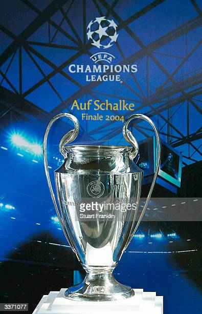 The Champions League Trophy is seen at The Champions League Trophy Handover Ceremony at The Music Hall on April 15 2004 in Gelsenkirchen Germany