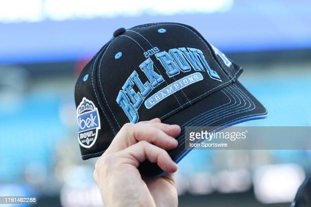The championship cap after the Belk Bowl college football game between the Virginia Tech Hokies and the Kentucky Wildcats on December 31 at Bank of...