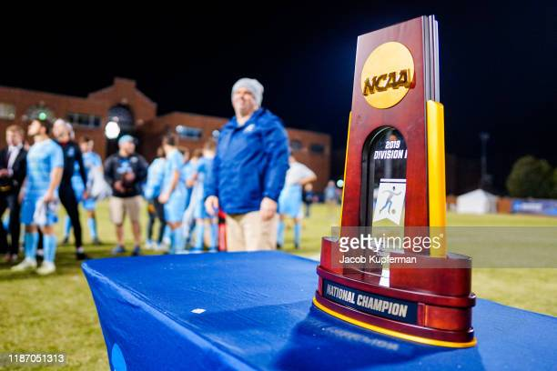 The championship trophy during the Division III Men's Soccer Championship held at UNCG Soccer Stadium on December 7 2019 in Greensboro North Carolina...