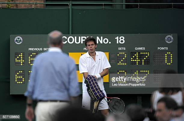 THe Championships Wimbledon London UK In the longest match ever played John Isner USA and Nicholas Mahut FRA reached 59all in the fifth set after 10...