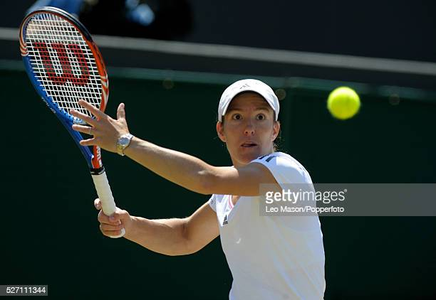 THe Championships Wimbledon London UK Justine Henin against fellow Belguim Kim Clijsters who she lost to in 3 sets