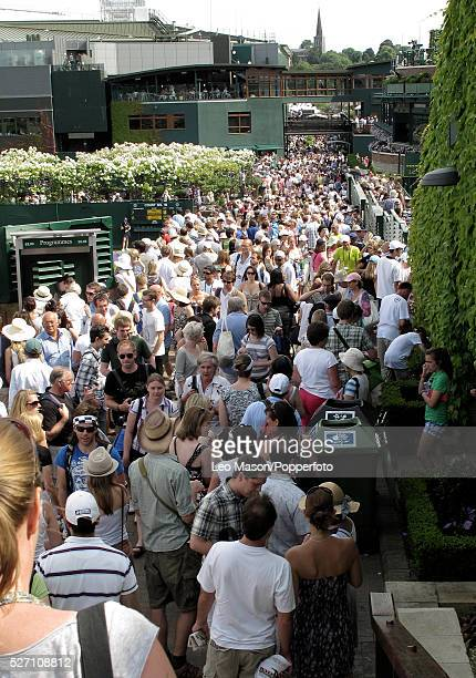 THe Championships Wimbledon London UK views and crowds around the grounds