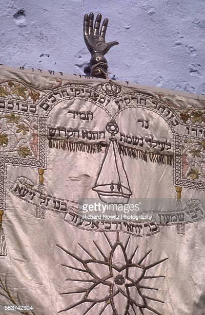 The Chamsah an amulet used to ward off the evil eye and as a good luck charm in the mystical Jewish city of Sefad where the Kabbala Judaism's...