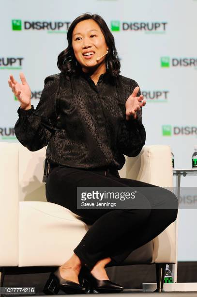 The Chan Zuckerberg Initiative Cofounder Priscilla Chan speaks onstage during Day 2 of TechCrunch Disrupt SF 2018 at Moscone Center on September 6...