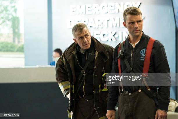 FIRE 'The Chance To Forgive' Episode 615 Pictured David Eigenberg as Christopher Herrmann Jesse Spencer as Matthew Casey