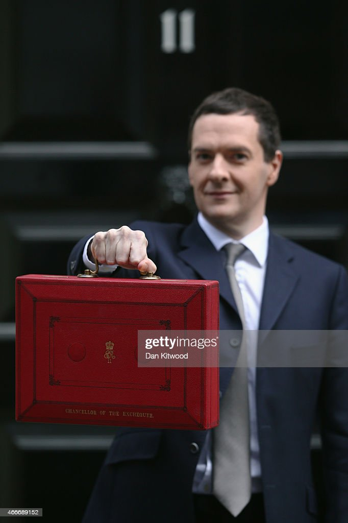 The Chancellor Presents The Final Budget Before The 2015 General Election : News Photo