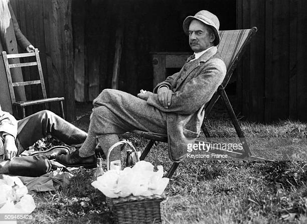 The Chancellor Of The Exchequer Neville Chamberlain, Guest Of Lord And Lady Rushcliffe, At The Drumnadrochit Hotel On Loch Ness Area, in Scotland,...