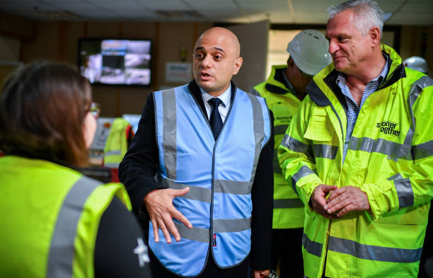 GBR: Sajid Javid Campaigns In Stirling With Candidate Stephen Kerr