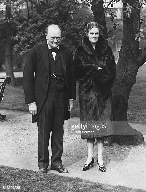The Chancellor of the Exchequer Winston Churchill with his wife Clementine 1929