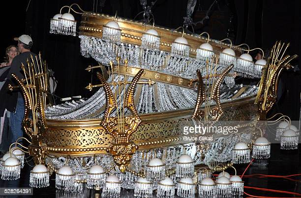 The Chandelier during The Phantom of the Opera Marks Its 7,000th Performance on Broadway at The Majestic Theater in New York City, New York, United...