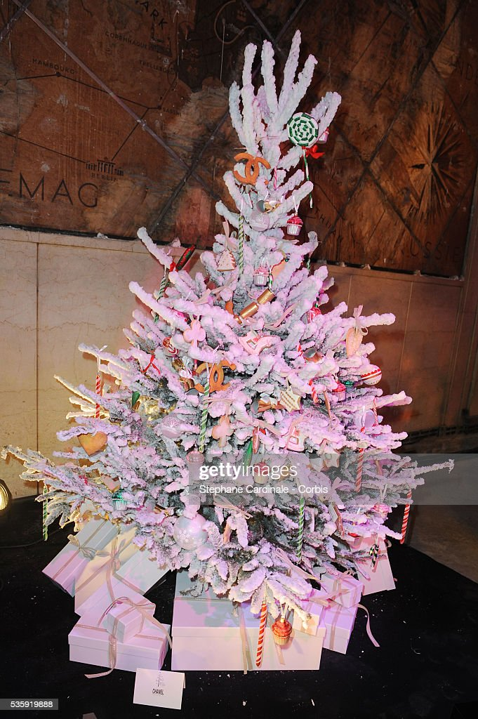 The Chanel Christmas three is pictured during 'Les Sapins de Noel des Createurs' in Paris.