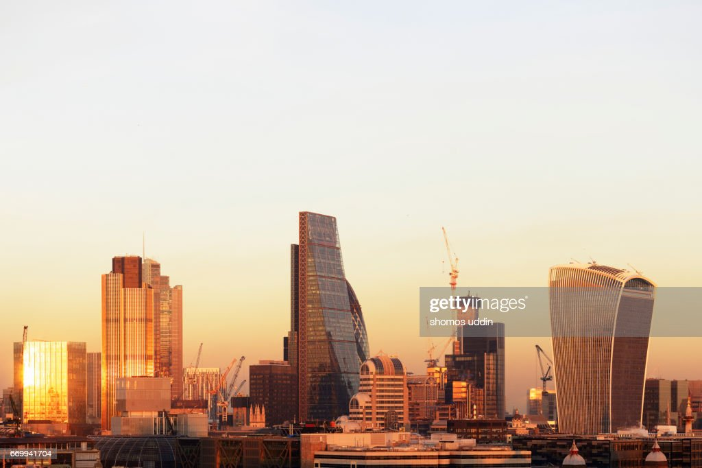 The changing face of modern London architecture : Stock Photo