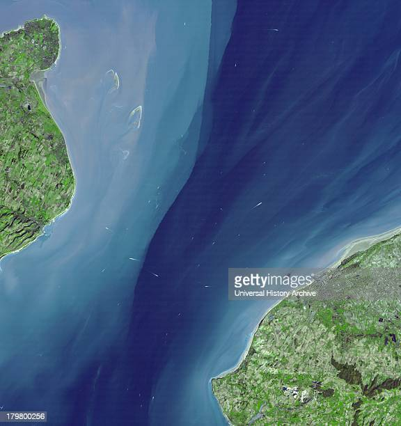 The Channel at the Straits of Dover Satellite image March 14 2001