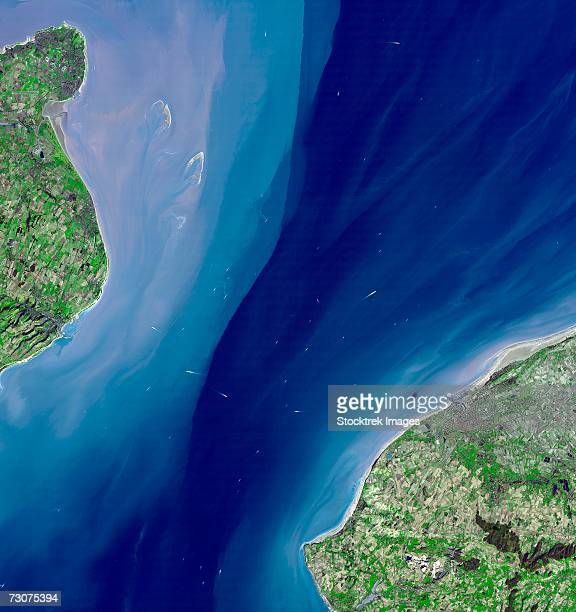 the channel tunnel is a 50.5 km-long rail tunnel beneath the english channel at the straits of dover. it connects dover, kent in england with calais, northern france. - english channel stock photos and pictures