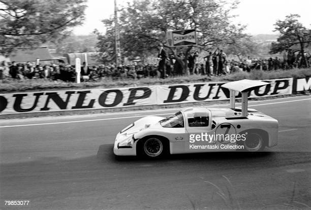 The Chaparral 2F driven by Phil Hill and Mike Spence at Tertre Rouge during The 24 Hours of Le Mans Le Mans June 1011 1967