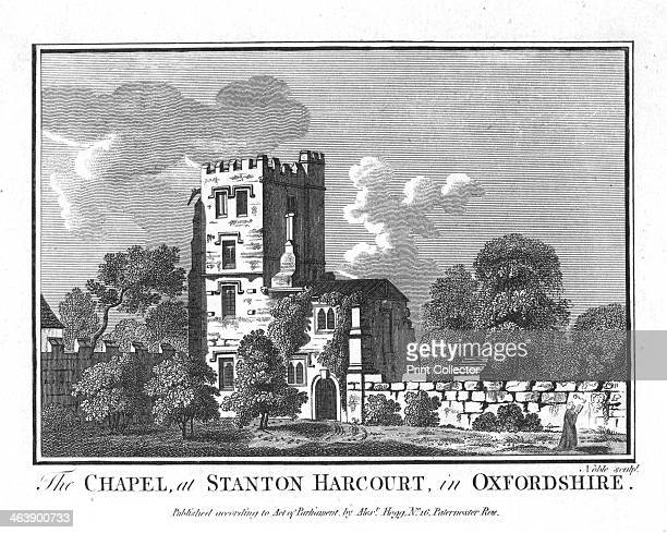 The Chapel at Stanton Harcourt in Oxfordshire' c1800 Alexander Pope the English poet was a frequent visitor to Stanton Harcourt He wrote in the tower...