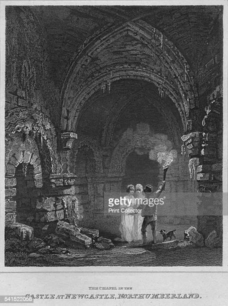 The Chapel in the Castle at Newcastle Northumberland' 1814 From The Border Antiquities of England and Scotland Vol II by Walter Scott Esq [Longman Co...