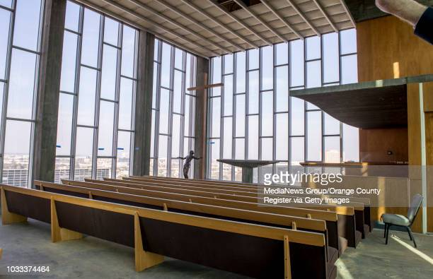 The Chapel in the Sky is located on the top floor of the 13-story Tower of Hope at Christ Cathedral. The tower is undergoing a $6.1 million...