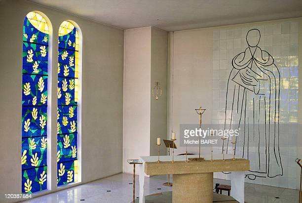 The chapel in Vence, France - The Chapel of the Rosary decorated by MATISSE.