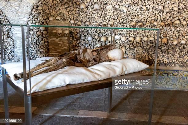 The Chapel of Bones, Capela dos Ossos, city of Evora, Alto Alentejo, Portugal, southern Europe.
