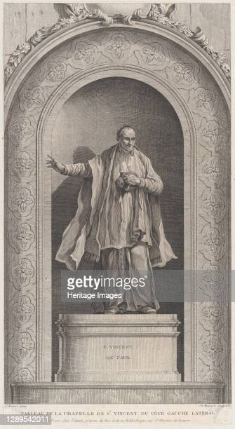 The Chapel of the Enfants-Trouv�s in Paris: Saint Vincent de Paul, 1756. [Tableau de la chapelle de St Vincent du c�t� gauche lateral]. Artist...