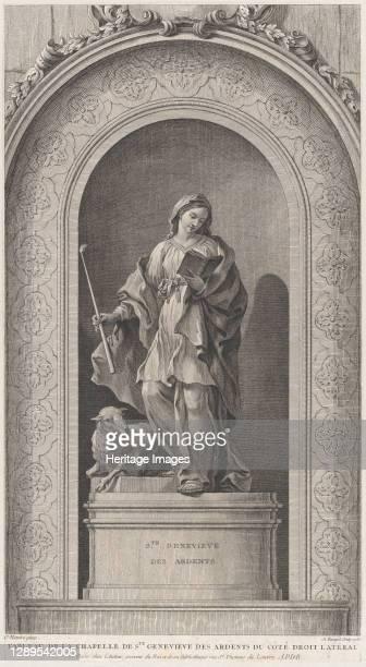 The Chapel of the Enfants-Trouv�s in Paris: Sainte Genevi�ve des Ardents, 1757. [Tableau de la chapelle de Ste Genevi�ve des Ardents du c�t� droit...