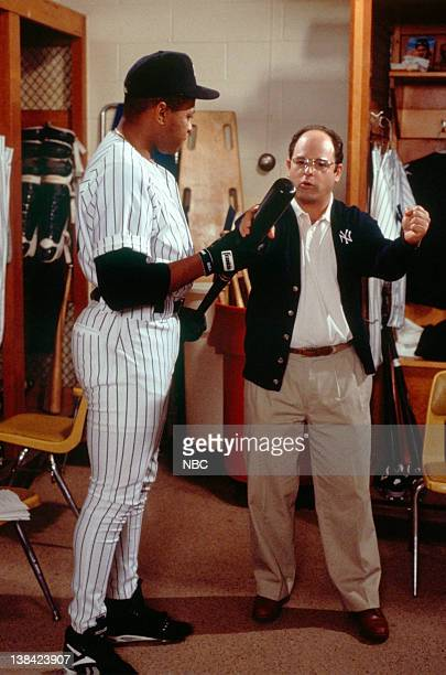 SEINFELD The Chaperone Episode 1 Pictured Danny Tartabull as himself Jason Alexander as George Costanza