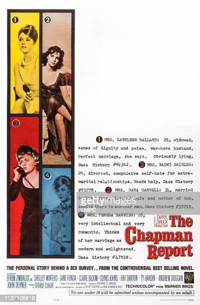 The Chapman Report poster US poster art clockwise from top left Jane Fonda Claire Bloom Glynis Johns Shelley Winters 1962
