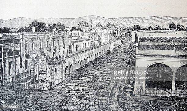 The Chapultepec aqueduct built by the Aztecs during the Tenochtitlan era is located in Mexico City near Metro Sevill