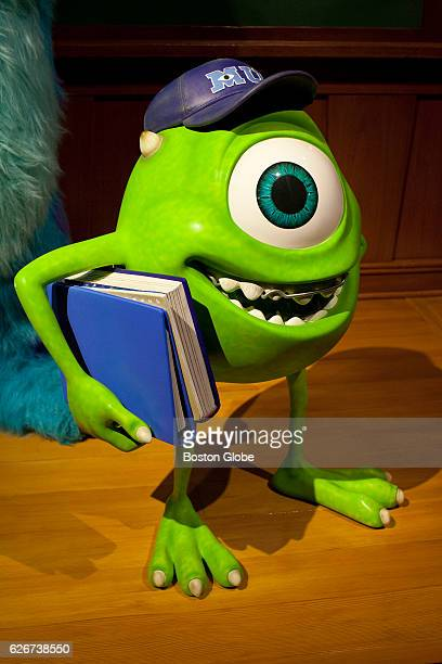 The character Mike Wazowski is pictured in the Science Behind Pixar exhibit prior to its opening at the Museum of Science in Cambridge MA on Jun 8...