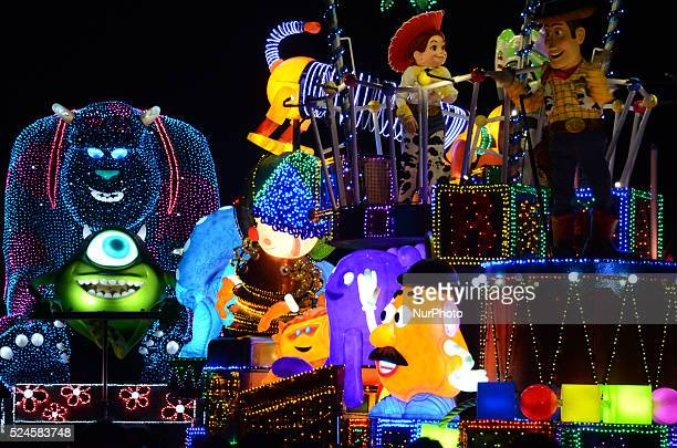The character of Disney quotTOY STORYquot are featured during the quotElectrical Parade Dreamlightsquot at Tokyo Disneyland in Urayasu east of Tokyo...