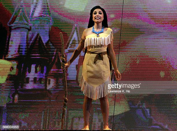The character Pocahontas in the premiere of Mickey's Magical Map at Disneyland on May 23 2013 Mickey and the Magicial Map The first new live show at...