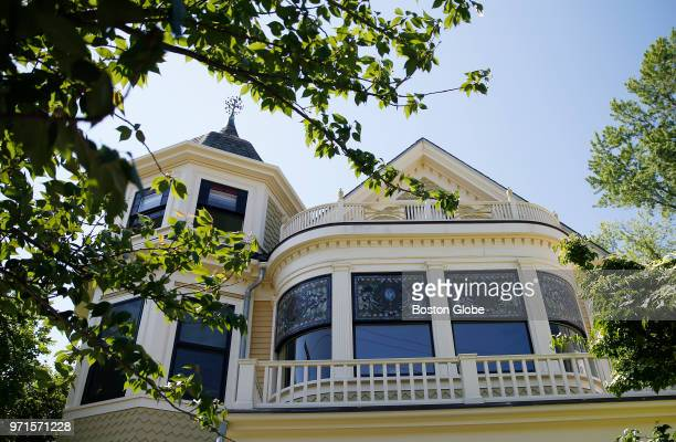 The Charles H Lockhart House is pictured in Davis Square in Somerville MA on May 29 2018