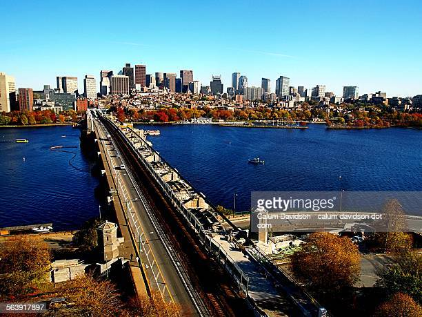 the charles river and downtown boston - cambridge massachusetts stock pictures, royalty-free photos & images