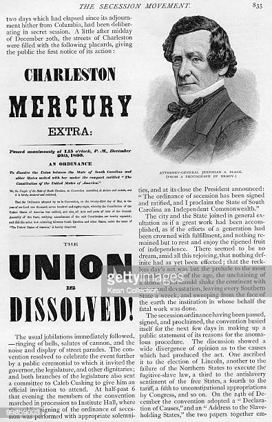 The Charleston Mercury's 'The Union is Dissolved' broadside 20 December 1860 was the first Confederate publication as South Carolina was the first...