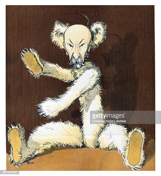 The Charlie bear by Udo Keppler 18721956 artist 1907 Illustration shows Charles W Fairbanks as a teddy bear