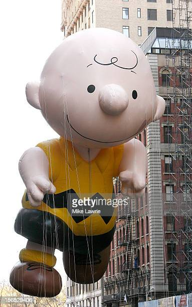 The Charlie Brown balloon is seen during the 86th Annual Macy's Thanksgiving Day Parade on November 22, 2012 in New York City.