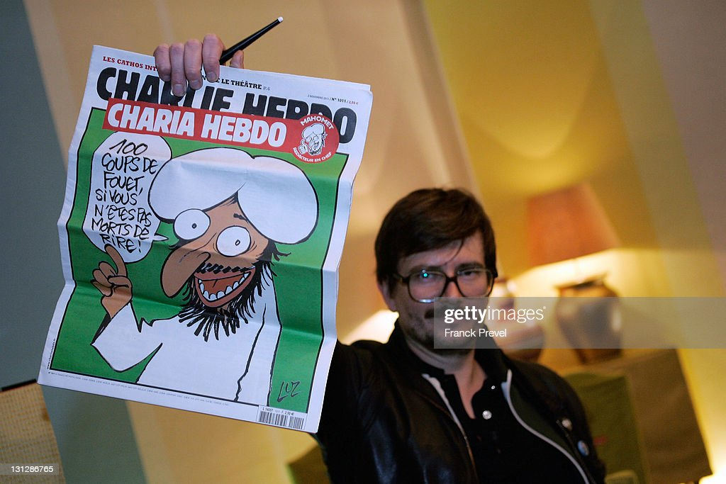 Charlie Hebdo First Team Meeting After Terrorist Attack : News Photo