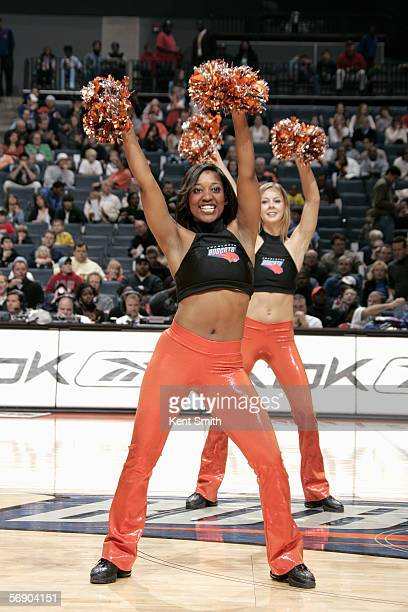 The Charlotte Bobcats dance team performs during the game with the New Orleans/Oklahoma City Hornets January 16 2006 at the Charlotte Bobcats Arena...