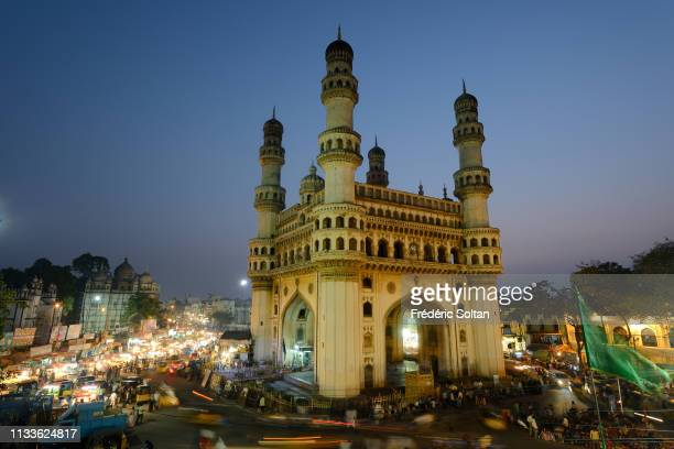 The Charminar, built in 1591, is a monument and mosque located in Hyderabad, the capital and largest city of the southern Indian state of Andhra...