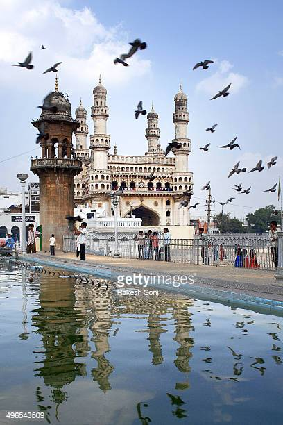 The Charminar complex at Hyderabad, India. Historical monument of India. Nizam, old Hyderabad architecture, Indian tourism, fly into the history,...