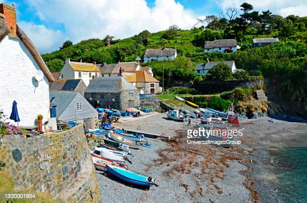 The charming cadgwith cove on the lizard peninsular in cornwall england.