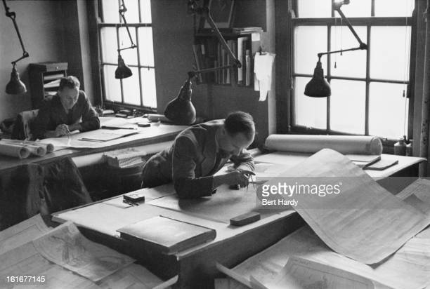 The Chart Room at Admiralty House on Whitehall in London the official residence of the First Lords of the Admiralty February 1941 The most uptodate...