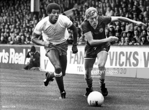The chase is on Villa's Tony Morley and Blues' Howard Gayle give chase at Villa Park Aston Villa v Birmingham City League Division One final score 10...
