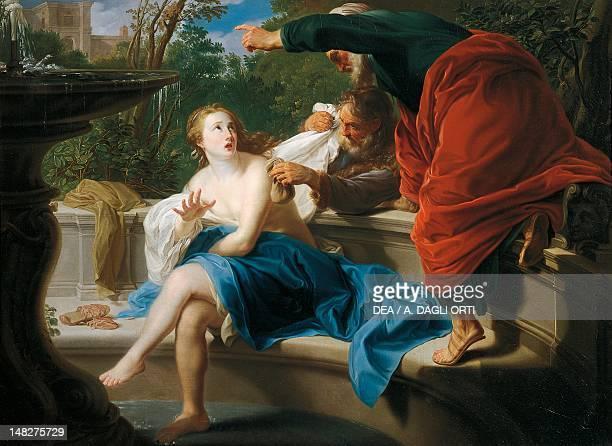 The chaste Susanna by Pompeo Batoni oil on canvas 97x135 cm Pavia Musei Civici Del Castello Visconteo Pinacoteca Malaspina